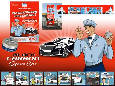 Referenzen Großdesign VIP Autowaschsalon Broschüren